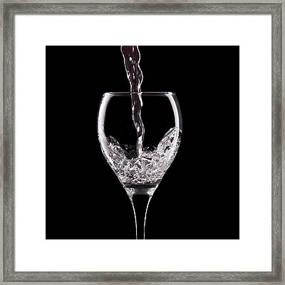 Glass Of Water Framed Print by Tom Mc Nemar
