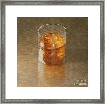 Glass Of Whisky 2010 Framed Print by Lincoln Seligman