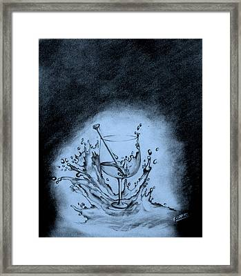 Glass Of Wine Framed Print by Samantak Panda