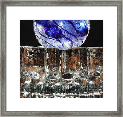 Glass On Glass Framed Print by Jolanta Anna Karolska
