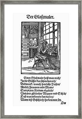 Glass Painter, 1568 Framed Print