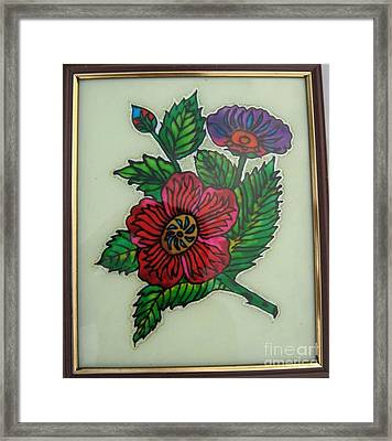 Glass Painting Framed Print by Gayathri Thangavelu