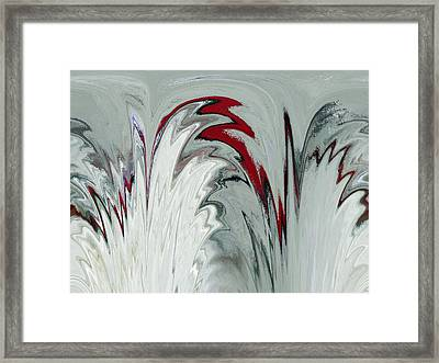 Glass Plumes Framed Print