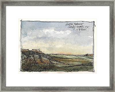 Framed Print featuring the mixed media Glass Ranch by Tim Oliver
