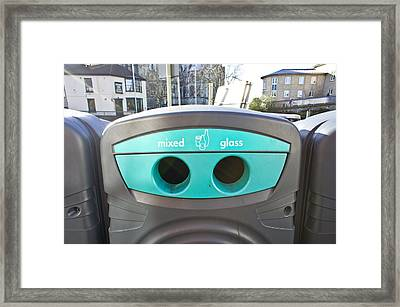Glass Recycling Framed Print by Tom Gowanlock