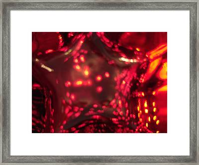 Glass Red And Orange Star Framed Print