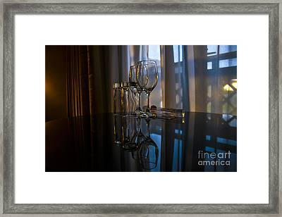 Glass Reflection Framed Print by Svetlana Sewell