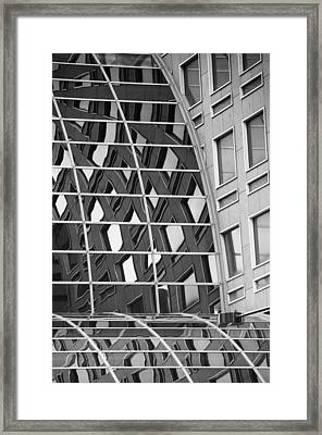 Glass Reflections Framed Print