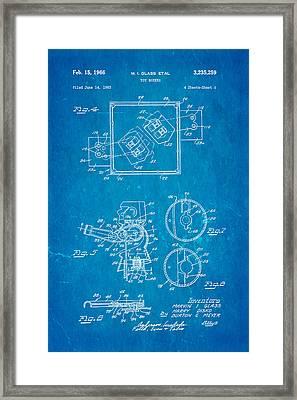 Glass Rock Em Sock Em Robots Toy Patent Art 2 1966 Blueprint Framed Print