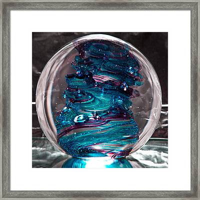 Glass Sculpture Blues And Purple Rb4 Framed Print by David Patterson