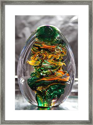 Glass Sculpture Go1  Framed Print by David Patterson