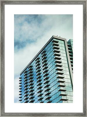 Glass Skyscraper Downtown Nashville Tennessee Framed Print