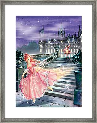 Glass Slipper Framed Print by Zorina Baldescu