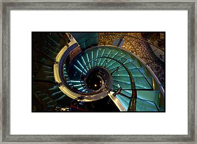 Glass Stairwell Framed Print