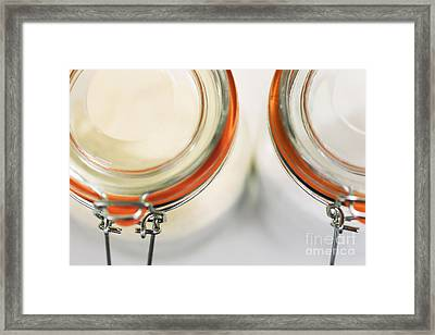 Glass Sugar Jars Framed Print by Natalie Kinnear