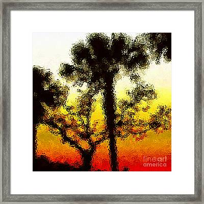Glass Sunset Framed Print by Gayle Price Thomas