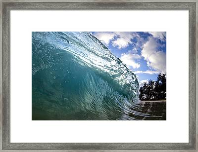 Glass Surge Framed Print by Sean Davey
