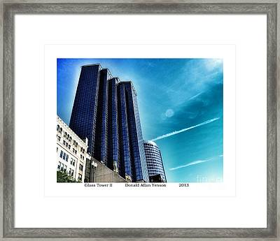 Glass Tower II Framed Print by Donald Yenson