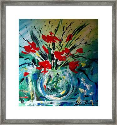Glass Vase Framed Print by Cynthia Hudson