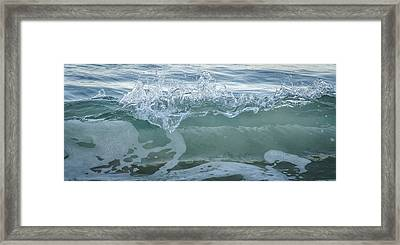 Glass Wave Framed Print