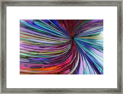 Glass Wave Framed Print by Matt Lindley