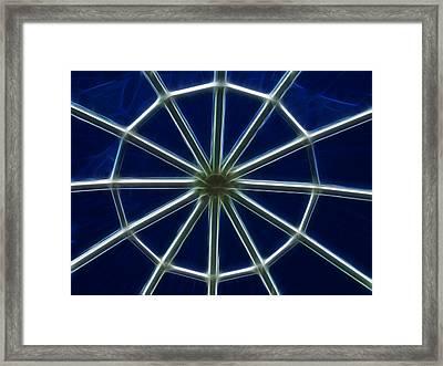 Glass Web Framed Print