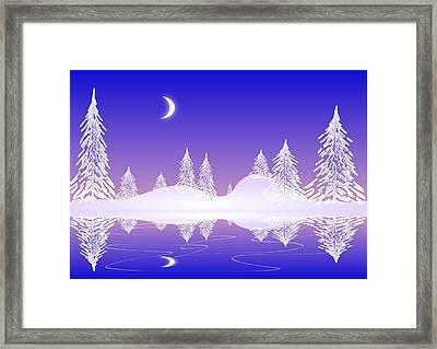 Glass Winter Framed Print