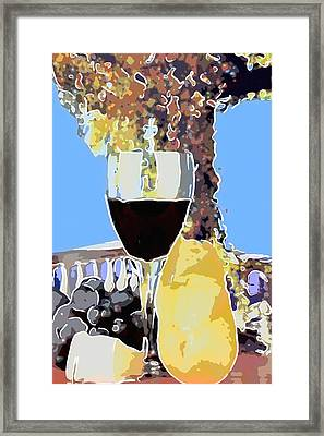 Glass With Red Wine Framed Print