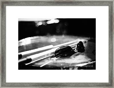 Glasses And Sticks Bw Framed Print by Lynda Dawson-Youngclaus
