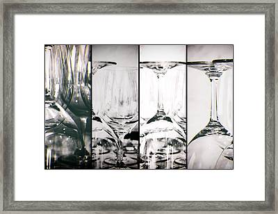 Wine Glasses Collage Framed Print by Georgia Fowler