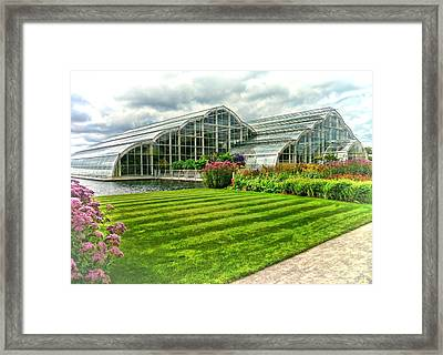 Glasshouse At Wisley Framed Print