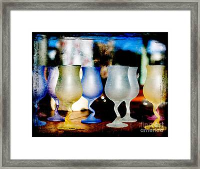 Glassware Framed Print by Bobbi Feasel