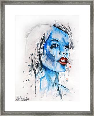 Glassy Girl Framed Print by Atinderpal Singh
