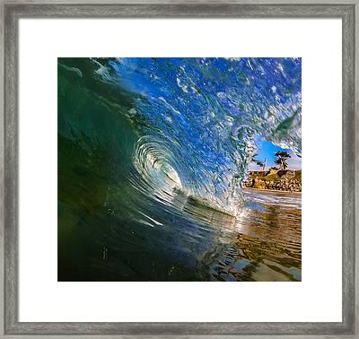 Glassy Perfection Framed Print