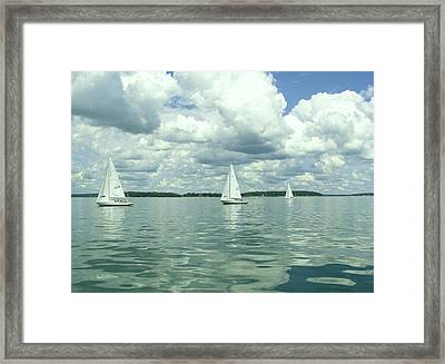 Glassy Sailing Framed Print