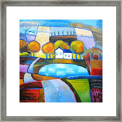 Glastonbury Farmhouse Framed Print by Mikhail Zarovny
