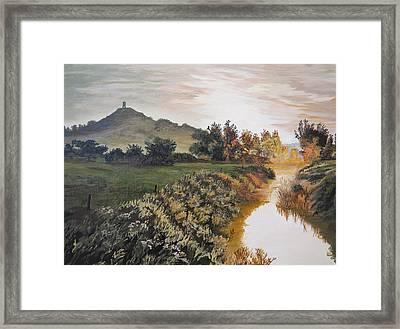 Glastonbury Tor Framed Print by Barry Buxton
