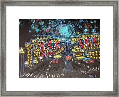 Glaucoma Starry Night Framed Print by Joseph Hawkins