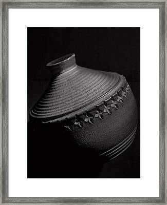 Glazed-black And White Framed Print by Tom Druin