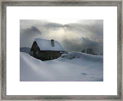 Gleam Of Light Framed Print by Martina  Rathgens