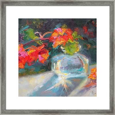 Gleaning Light Nasturtium Still Life Framed Print by Talya Johnson