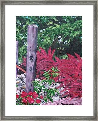 Glen Cairn Entrance Framed Print by Sharon Duguay