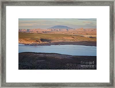 Glen Canyon And Navajo Mountain Framed Print by Dave Gordon