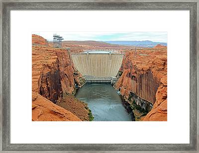Glen Canyon Dam Framed Print