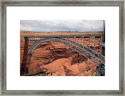 Glen Canyon Dam Bridge Framed Print by Jim West