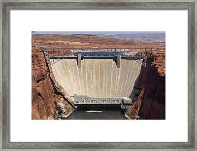 Glen Canyon Dam - Bridge Framed Print by Mike McGlothlen