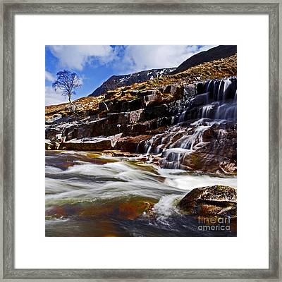 Framed Print featuring the photograph Glen Etive by Craig B