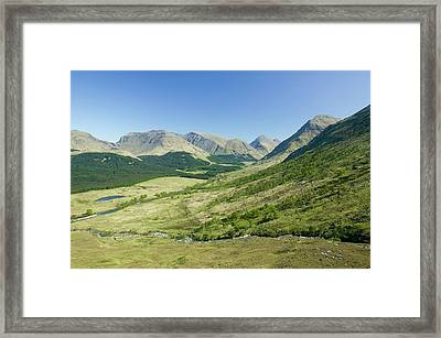 Glen Etive In Scotland Framed Print