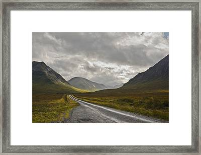 Glen Etive In The Scottish Highlands Framed Print