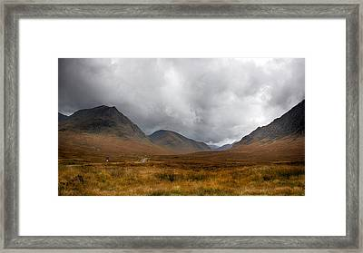 Framed Print featuring the photograph Glen Etive by Trever Miller